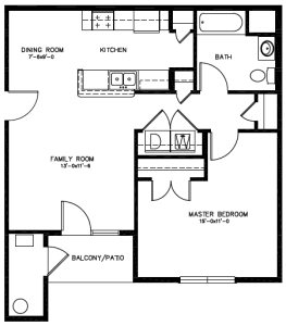 Southwind Apartments Floor Plan - Avalon