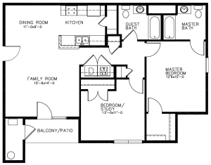 Southwind Apartments Floor Plan - Cape