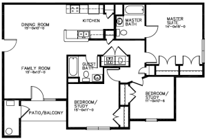 Southwind Apartments Floor Plan - Oasis